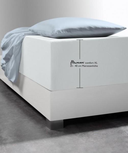 Premium Boxspring Laken fleuresse comfort XL silber grau