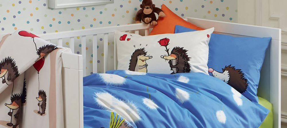 niedliche kinderbettw sche bettw sche kinder hund katze schaf igel fleuresse bei ladyproject. Black Bedroom Furniture Sets. Home Design Ideas