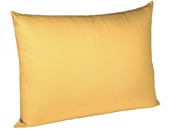 Uni Jersey Kissenbezug bügelfrei fleuresse sonne gelb