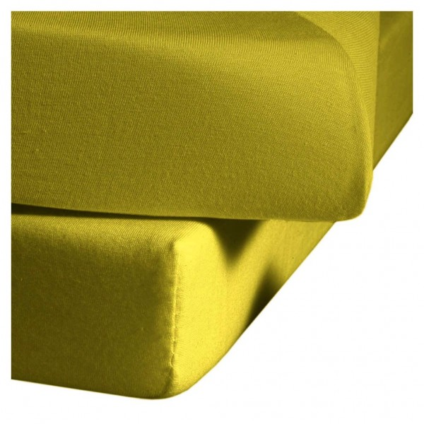 Mako Satin fleuresse colours Spannbettlaken olive gold