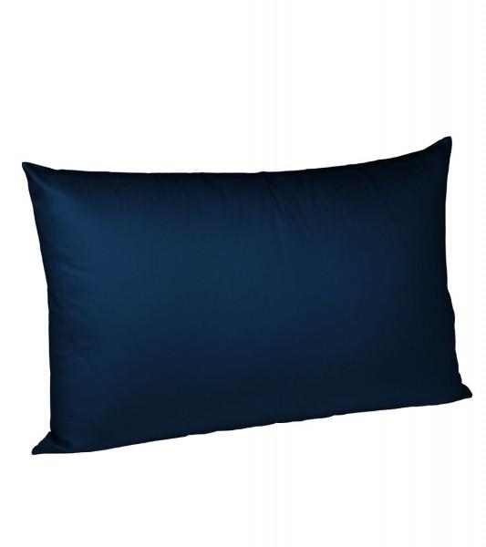 Jersey Kissenhülle Uni bügelfrei fleuresse marine blau