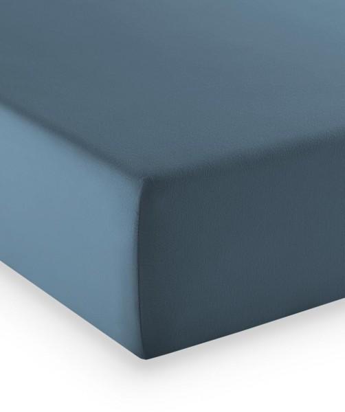 Premium Jersey fleuresse comfort Spannlaken jeans blau