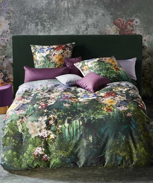Luxus Blumen Wenbebettwäsche mit Orchideen von fleuresse bed art auf Salbei Grün 200x200