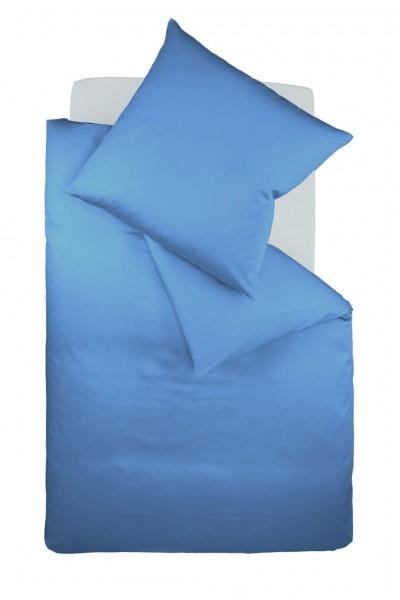 fleuresse colours Mako Satin uni Bettwäsche himmel blau