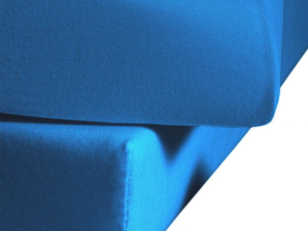Jersey Spannbettlaken fleuresse Jenny C meeres blau