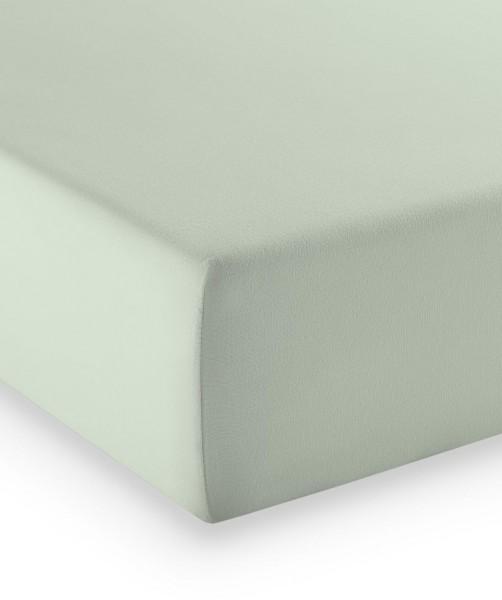 Premium Jersey fleuresse comfort Spannlaken blass grün