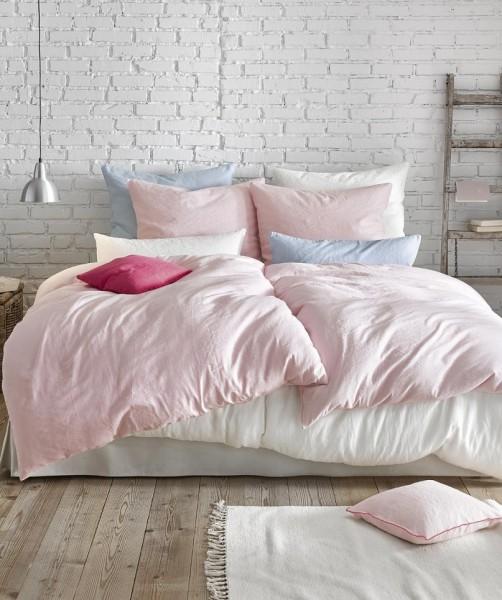 Rosa Leinen Bettwäsche und Kissenbezug von fleuresse provence
