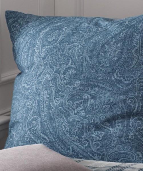 Flanell Bettwäsche Paisley in Blau von fleuresse lech 155x220