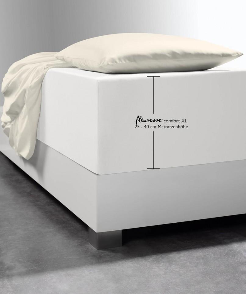 Luxus Boxspring Bettlaken Fleuresse Comfort Xl Natur Weiss Jersey