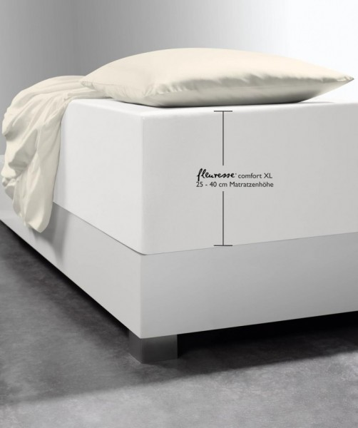Luxus Boxspring Bettlaken fleuresse comfort XL natur weiss