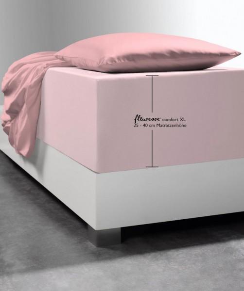 Premium Boxspring-Spannlaken fleuresse comfort XL rosa