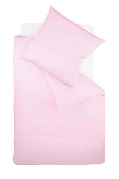 fleuresse colours Mako Satin uni Bettwäsche rose rosa