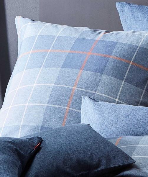 Warme Flanell Bettwäsche mit blauen Karos von fleuresse lech 200x200