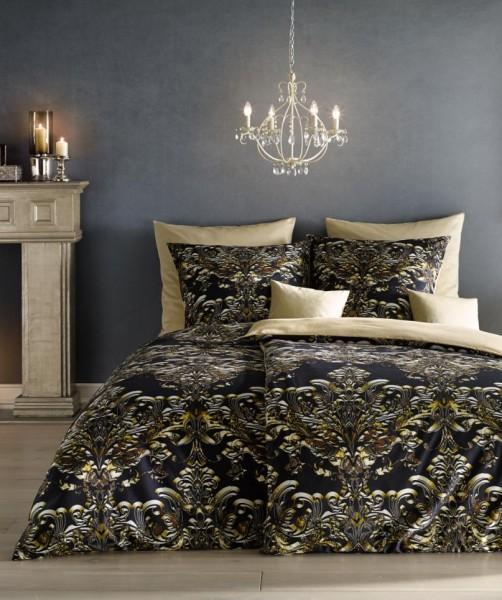 Exklusive Ornament Wendebettwäsche Fotodruck von fleuresse bed art in Schwarz 155x220