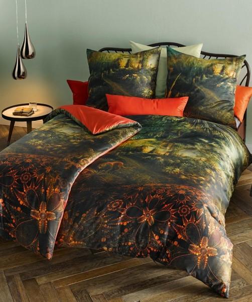 Außergewöhnliche Wendebettwäsche Dschungel von fleuresse bed art in Grün 155x220