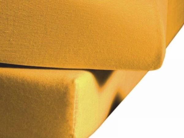 Mako Satin fleuresse colours Spannbettlaken sonne gelb