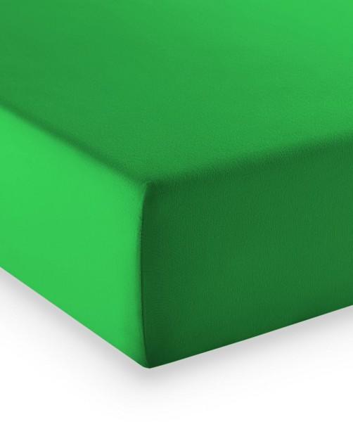 Premium Jersey fleuresse comfort Spannlaken gras grün