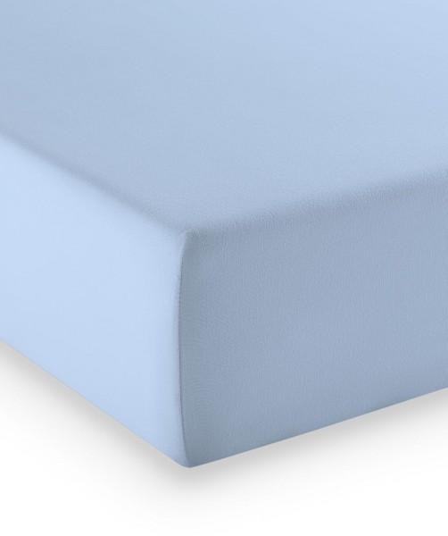 Premium Jersey fleuresse comfort Spannlaken bleu blau