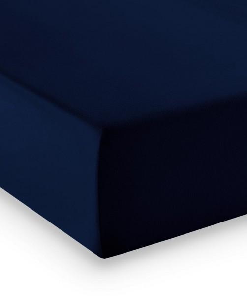 Premium Jersey fleuresse comfort Spannlaken nachtblau