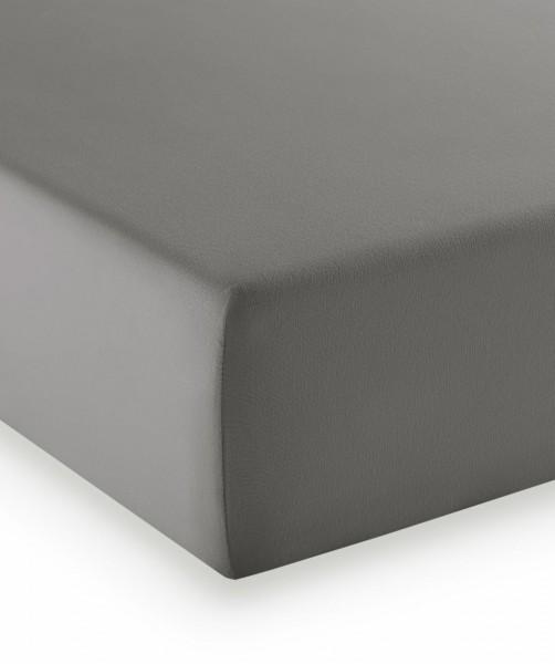 Premium Jersey fleuresse comfort Spannlaken stein grau