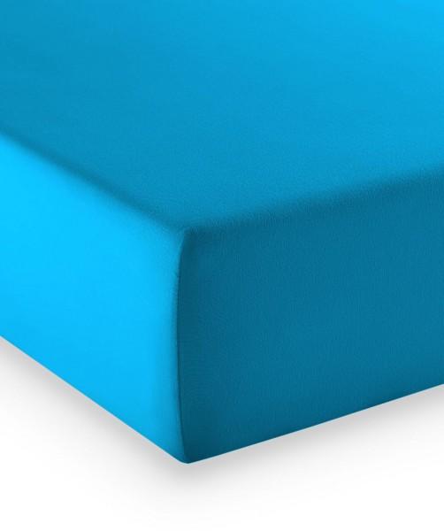 Premium Jersey fleuresse comfort Spannlaken meeres blau
