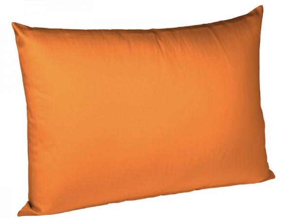 Uni Kissenbezug Interlock Jersey bügelfrei fleuresse orange