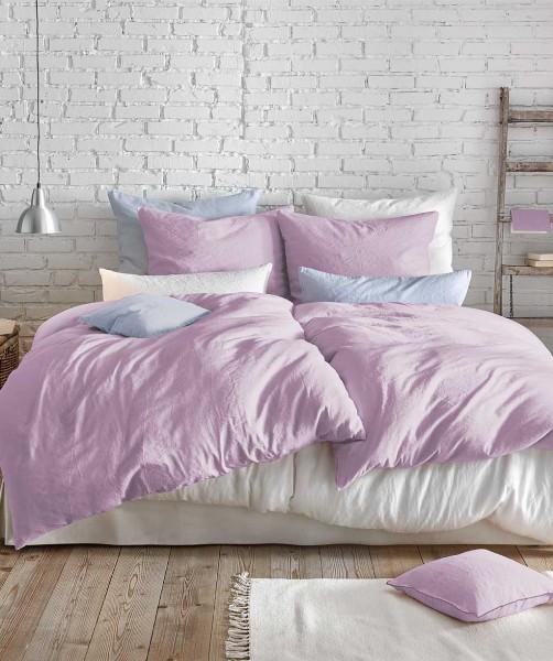 Leinen Bettwäsche und Kissenbezug in Lavendel Flieder von fleuresse provence