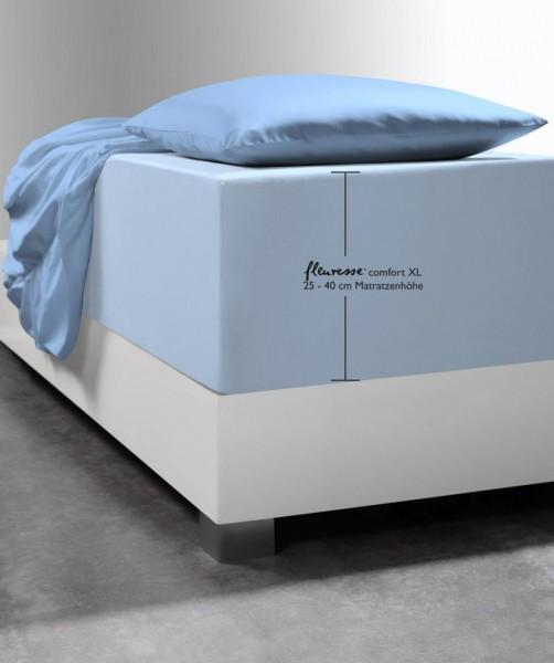 Spannlaken Boxspring-System fleuresse comfort XL hellblau
