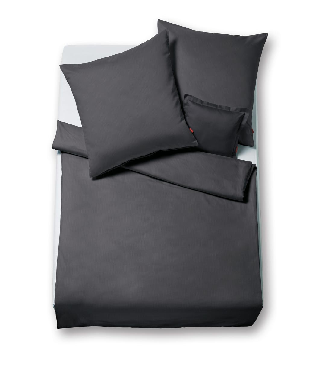 flanell bettw sche von fleuresse lech anthrazit dunkelgrau xxl gr e 240x220 240x220 2x 80x80. Black Bedroom Furniture Sets. Home Design Ideas