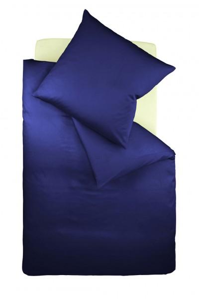 Bügelfreie fleuresse Bettwäsche aus Jersey - marine blau