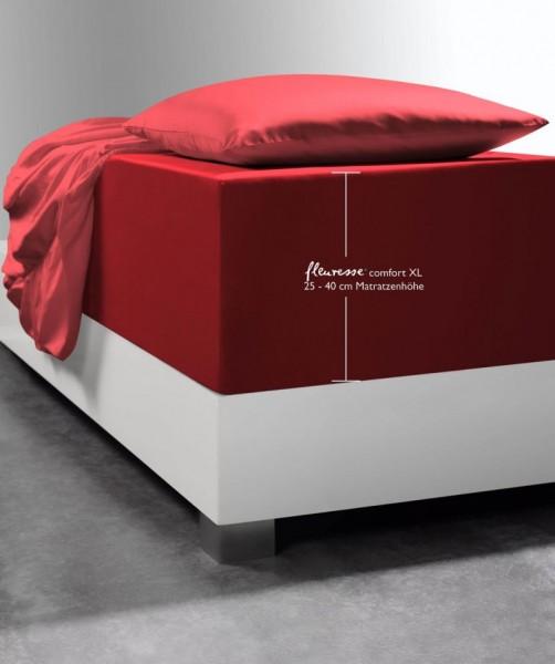 Spannlaken Boxspring-System fleuresse comfort XL rot bordeaux