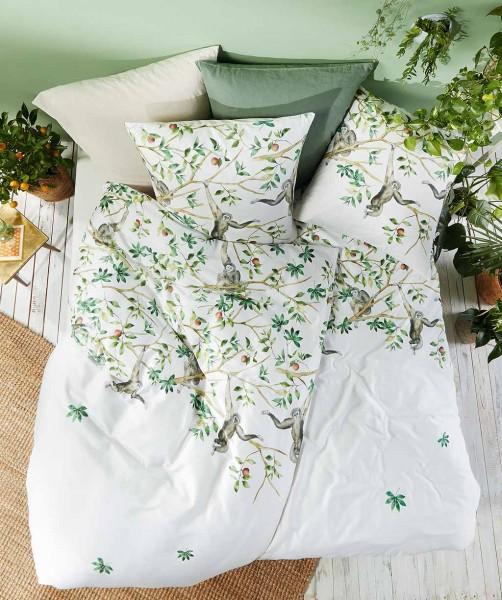 Modische Wendebettwäsche mit Gibbon Affen von fleuresse bed art in Grün 200x200