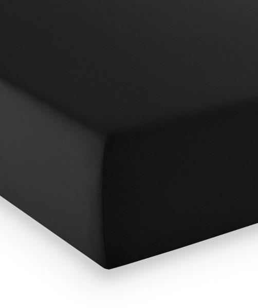 Premium Jersey fleuresse comfort Spannlaken schwarz