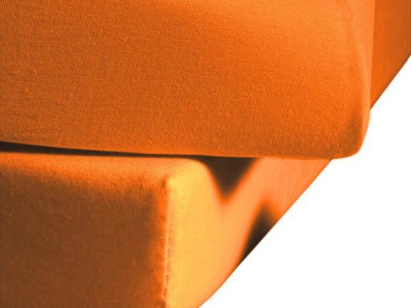 Mako Satin fleuresse colours Spannbettlaken orange