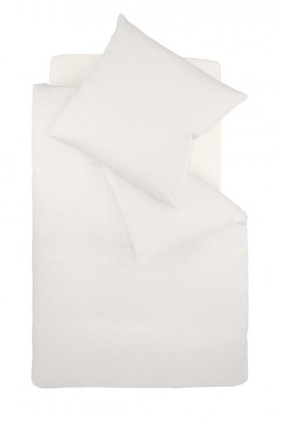 fleuresse colours Mako Satin uni Bettwäsche porzellan weiß
