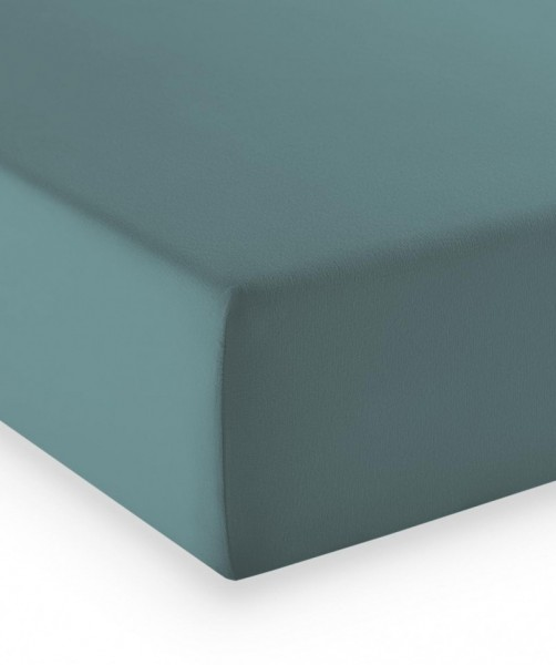 Premium Jersey fleuresse comfort Spannlaken aqua blau