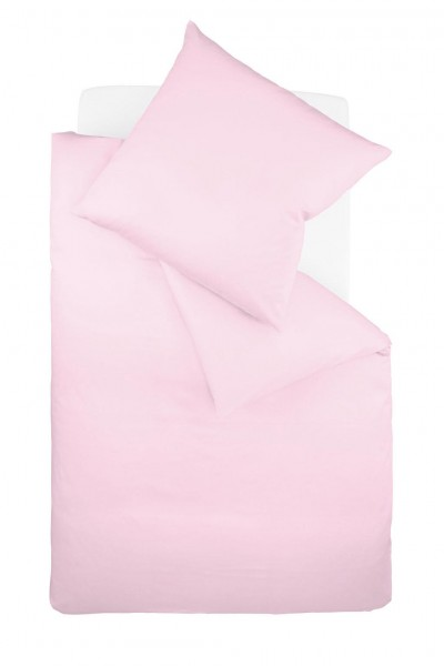 Bügelfreie Unibettwäsche Jersey fleuresse - rose / rosa