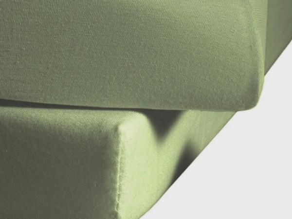 Mako Satin fleuresse colours Spannbettlaken salbei grün
