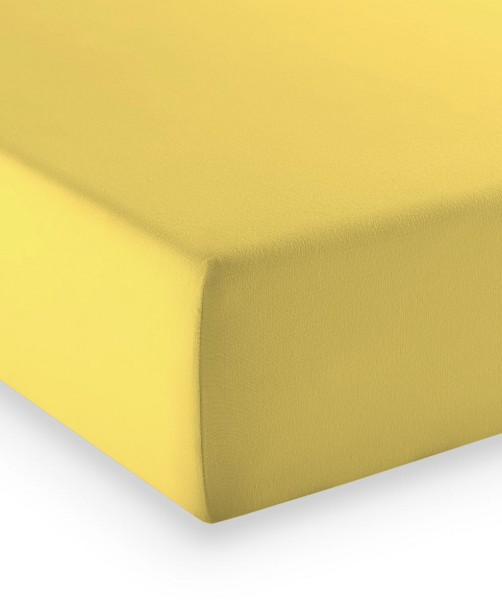 Premium Jersey fleuresse comfort Spannlaken zitrone gelb