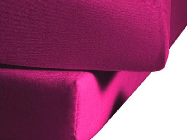 Mako Satin fleuresse colours Spannbettlaken pink
