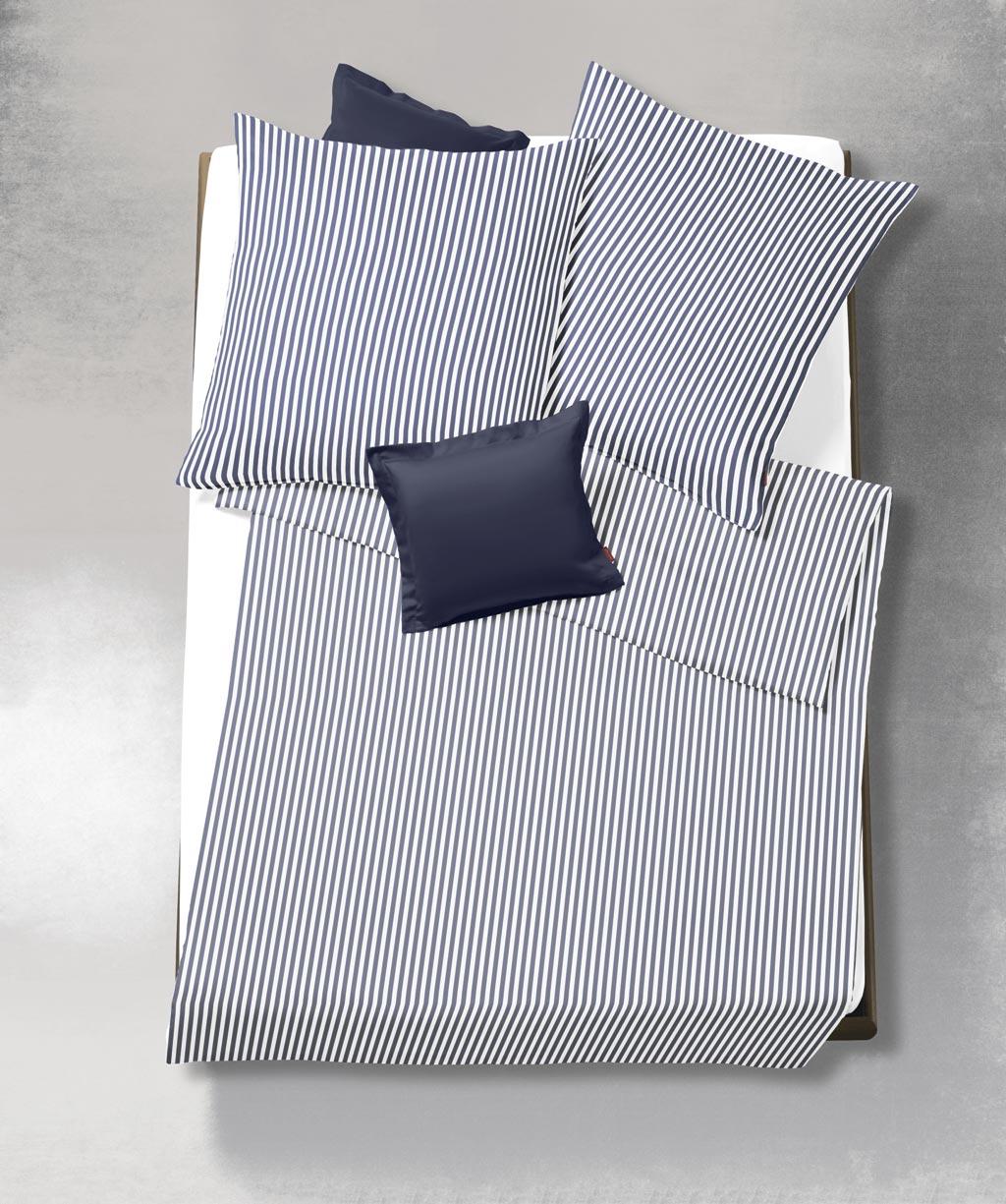 Blau Weiß Gestreifte Seersucker Bettwäsche Bügelfrei 155x220 Von
