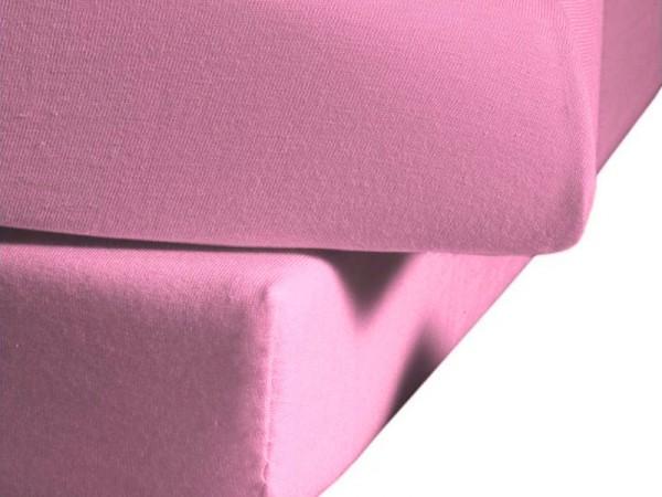 Mako Satin fleuresse colours Spannbettlaken rosa