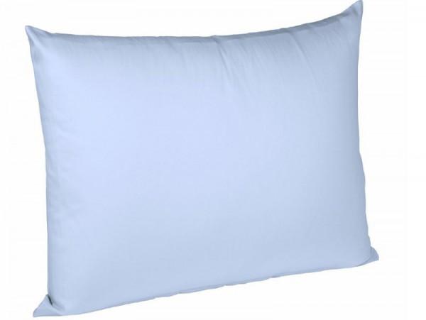 Jersey Kissenhülle bügelfrei fleuresse uni bleu blau