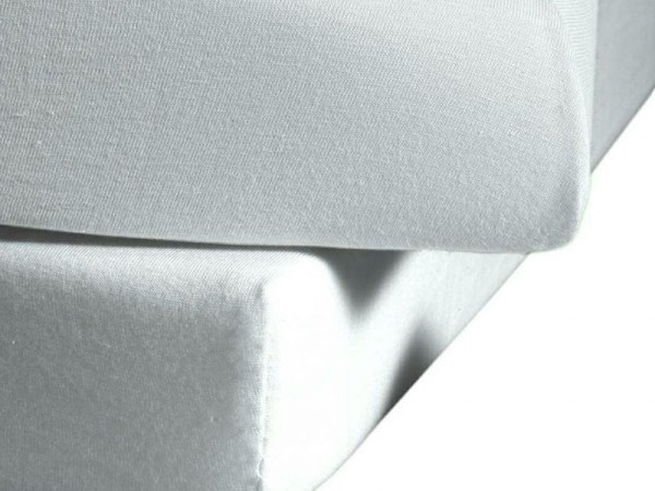 Mako Satin fleuresse colours Spannbettlaken silber grau