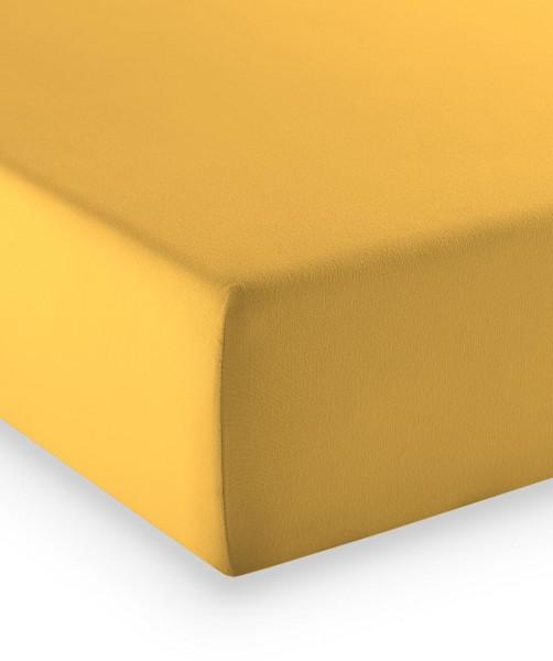 Premium Jersey fleuresse comfort Spannbettlaken gelb