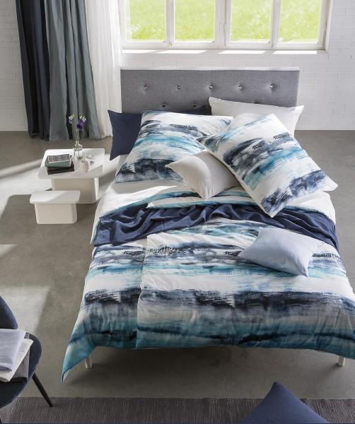 Streifen Bettwäsche mit Wendeseite von fleuresse bed art blau weiß 135x200