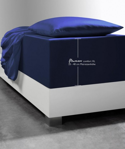 Luxus Boxspring-Laken fleuresse comfort XL blau marine