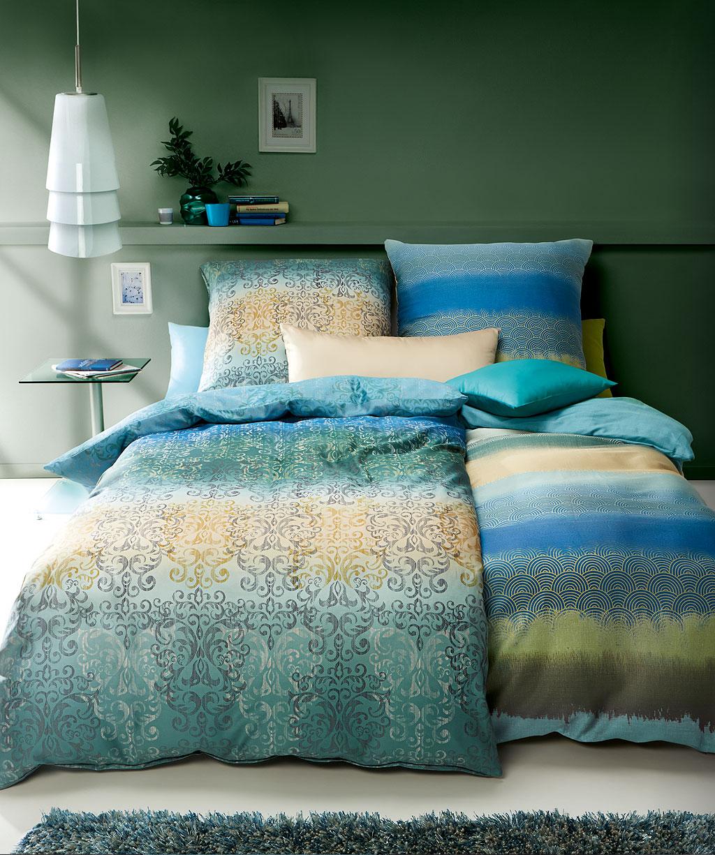Orientalisch Gestreifte Bettwäsche Blau 155x200 Reduziert