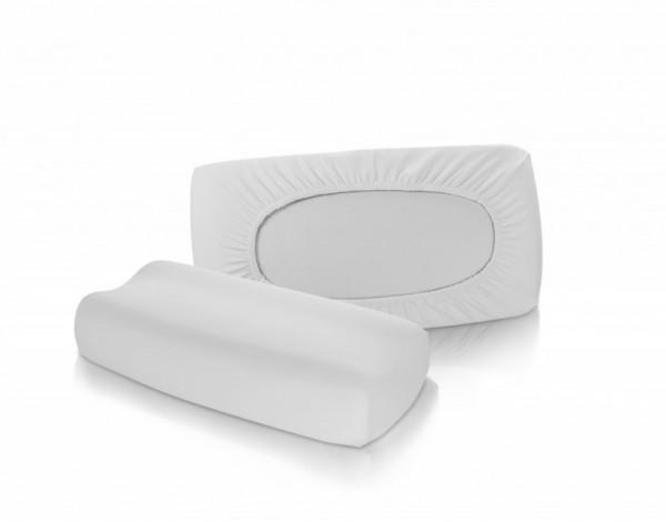 uni bezug f r gesundheitskissen fleuresse vital comfort in silber grau nackenst tzkissen. Black Bedroom Furniture Sets. Home Design Ideas