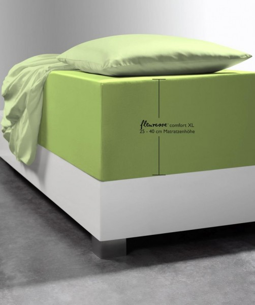Marken Boxspring-Laken fleuresse comfort XL apfel grün